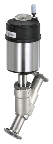 Pneuma<div>tically operated 2/2-way angle-seat valve image